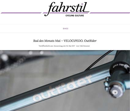 5/2017 _ fahrstil _ Bike of the Month
